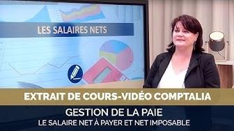 le salaire net à payer et le net imposable - extrait cours vidéo COMPTALIA