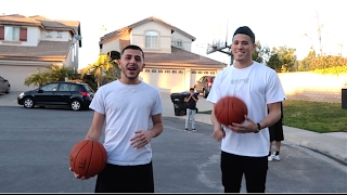 Repeat youtube video DEVIN BOOKER SURPRISES ME AT HOME (BASKETBALL CHALLENGE)