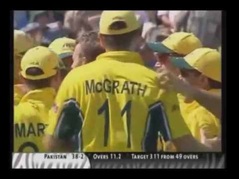 Pakistan vs Australia 2003 Short World Cup Highlights