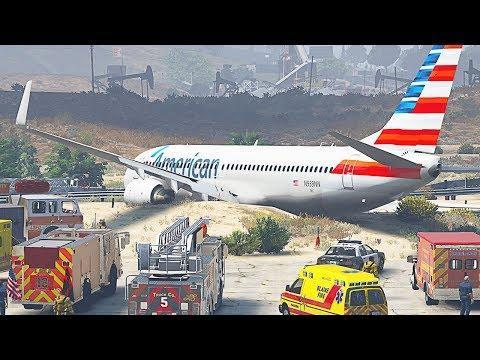GTA 5 - Realistic Boeing 737 Runway Overrun (HD)