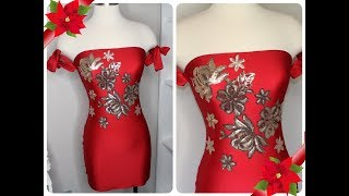 DIY Dress Strapless/ Vestido Strapless Con Tirantes Caidos