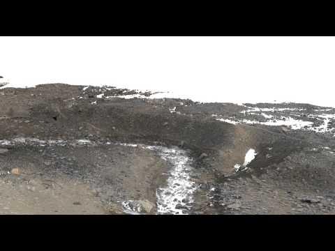 Canada stream mcmurdo dry valleys fly by Lidar compression test