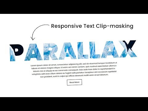 Responsive CSS Text Clip-Mask Parallax Scrolling Effects | Html5 CSS3 Masking
