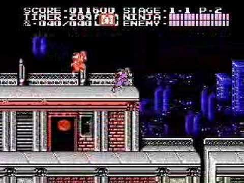 Ninja Gaiden 2 Nes Gameplay Stage 1 Youtube