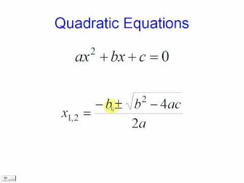 Quadratic Equations - solve them with this simple code