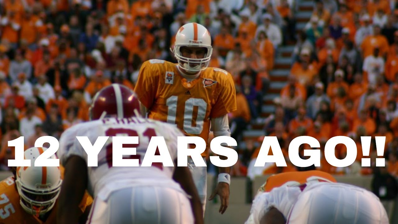 The Last Time Tennessee Beat Alabama - YouTube