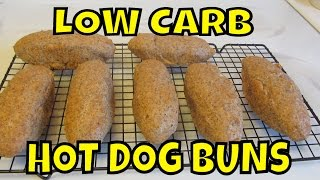Low Carb Almond Meal Hot Dog Buns~ Gluten Free