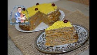 Вкусный торт из куриной печени с луком и морковью