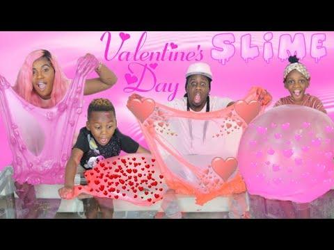 Mystery Valentine's Day Slime Challenge