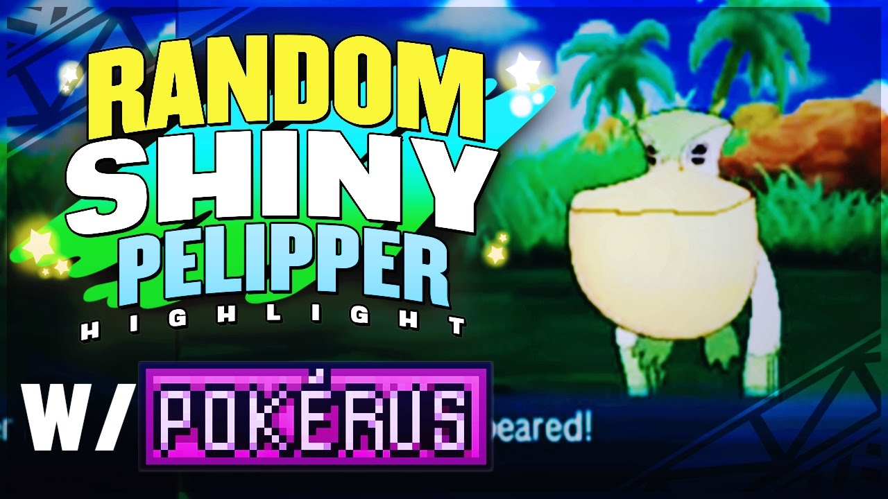RANDOM SHINY PELIPPER + POKERUS! MOST INSANE SHINY EVER! Pokemon Sun and  Moon Shiny Reaction!