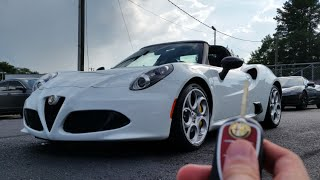 2016 Alfa Romeo 4C Spider: Test Drive, Start Up, Exhaust and Review