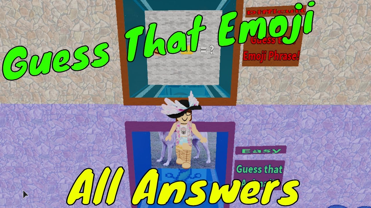 Roblox Guess That Character Guessing All The Emoji Phrases Youtube