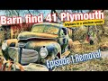 Barn Find 41 Plymouth!  E:1 Removal; 50 years in a Chicken coupe