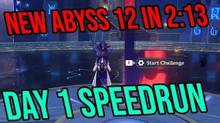 FULL NEW Abyss 12 in 2:13! (Day 1 Speedrun)