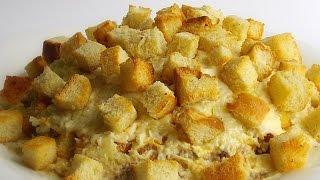 Слоёный Салат с Сардиной и Гренками кулинарный видео рецепт