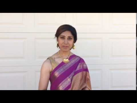 "Bollywood Actress Meenakshi Seshadri saying ""Life Again"" slogan."