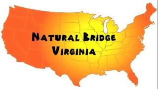 Download lagu How to Say or Pronounce USA Cities Natural Bridge Virginia MP3