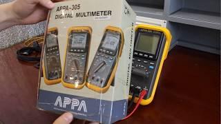 Обзор Мультиметра APPA-305(Постоянное напряжение 1 мкВ - 1000 В Переменное напряжение 10 мкВ-750 В Постоянный/переменный ток 1 мкА-10 А Сопрот..., 2015-12-22T16:25:35.000Z)