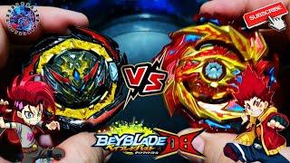 BELL VS HYUGA | DYNAMITE BELIAL VS HYPERION BURN | BEYBLADE BURST DYNAMITE BATTLE #Shorts