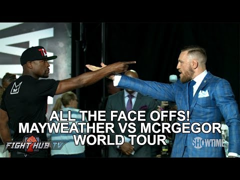 Thumbnail: ALL THE FACE OFFS FROM THE MAYWEATHER VS MCGREGOR WORLD TOUR