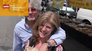 Eric Roberts and Eliza Roberts talk about their daughter Pie company while shopping