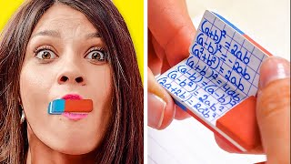 FUNNY SCHOOL HACKS AND SECRETS YOU NEED TO KNOW || Back To School Hacks by 123 Go! Live