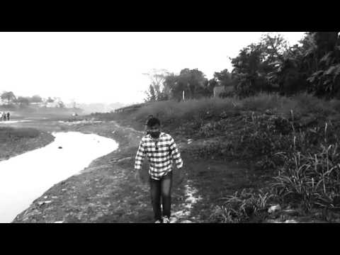 black and White - Walking on village