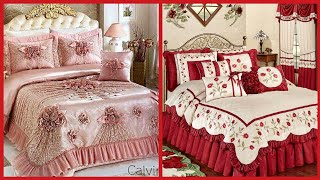 Top Class Bridal Bedsheet Collection//luxury Wedding Bedding Set King Queen Double Size Bedsheets