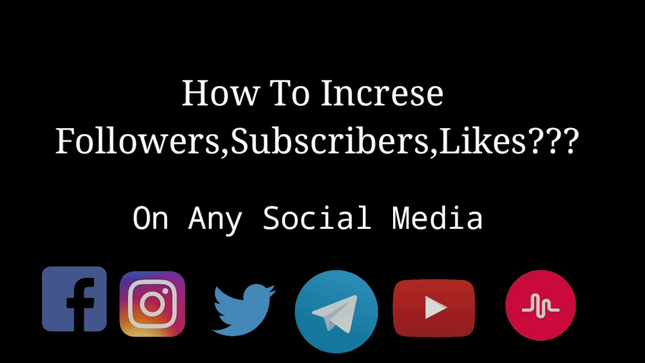 How to Increase Followers or Likes on Instagram | Facebook | Twitter |  Youtube | Free Trick 2018