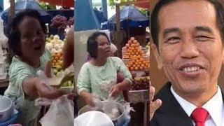 Viral! Penjual Ombus-Ombus Nyanyi Lagu Jokowi di Pasar, Liriknya Mulai dari BPJS Sampai Gempa Lombok