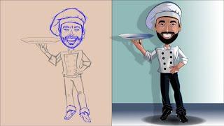 Como Vetorizar um mascote, desenho feito a lápis no Corel Draw-Pintura do corpo-Jm Design Gráfico