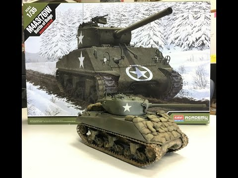 Building the new Academy models 1/35 M4A3 76W Sherman