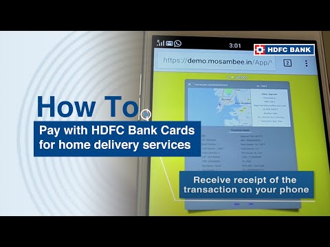 How to pay with HDFC Bank Cards for home delivery services