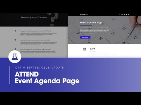 OptimizePress Club Event Agenda - Landing Page Template - YouTube