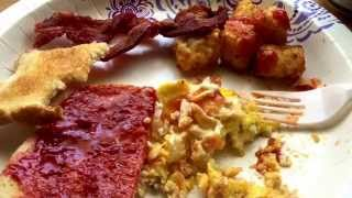 Asmr Bacon, Scrambled Eggs, Tater Tots, Toast W/butter, Jam Loud Eating, Chewing