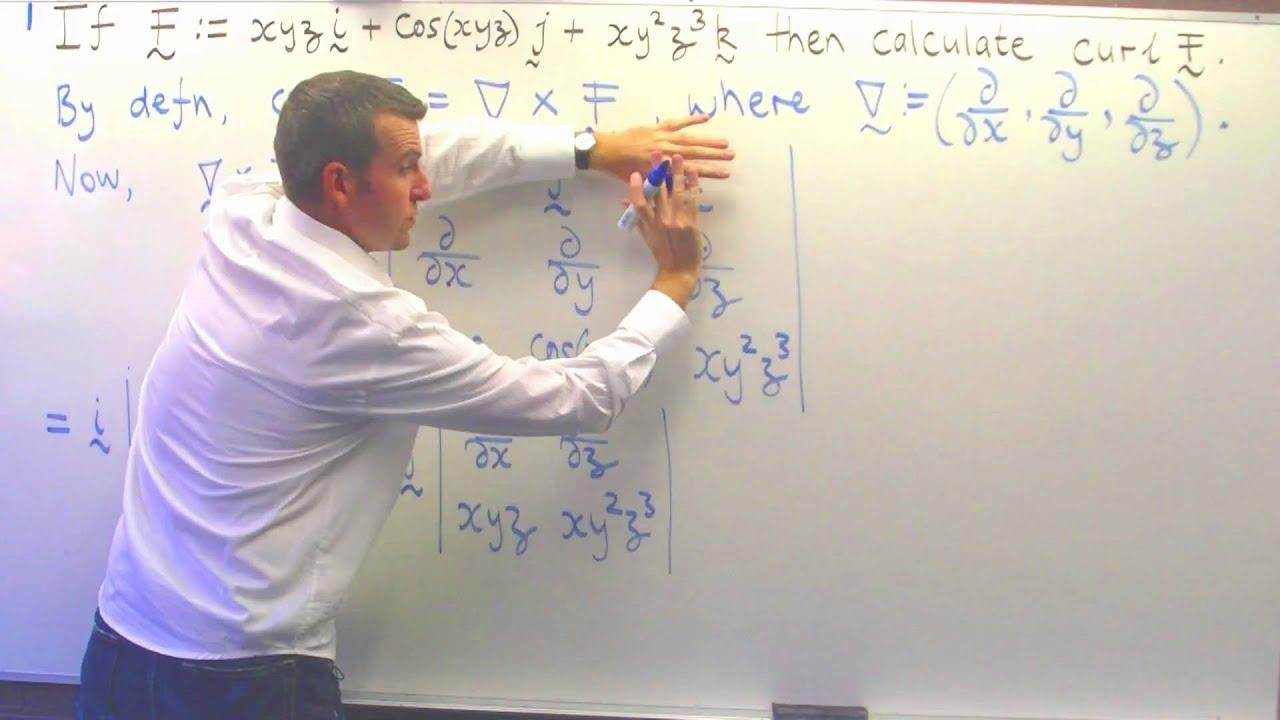 Curl of a vector field (ex. no.2): Vector calculus