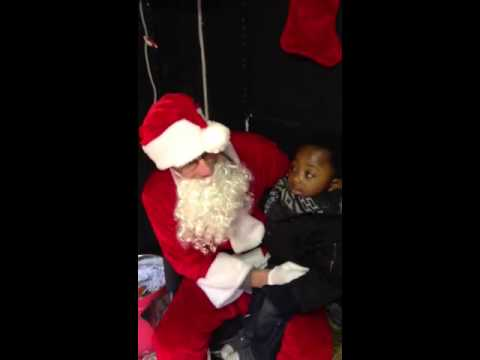 SANTA SHOCKED at 2 year old Toddler Joshua-James' present request!