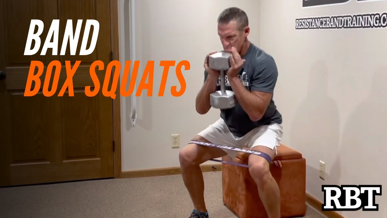 Band-Dumbbell Home Leg Workout / Resistance Band Training