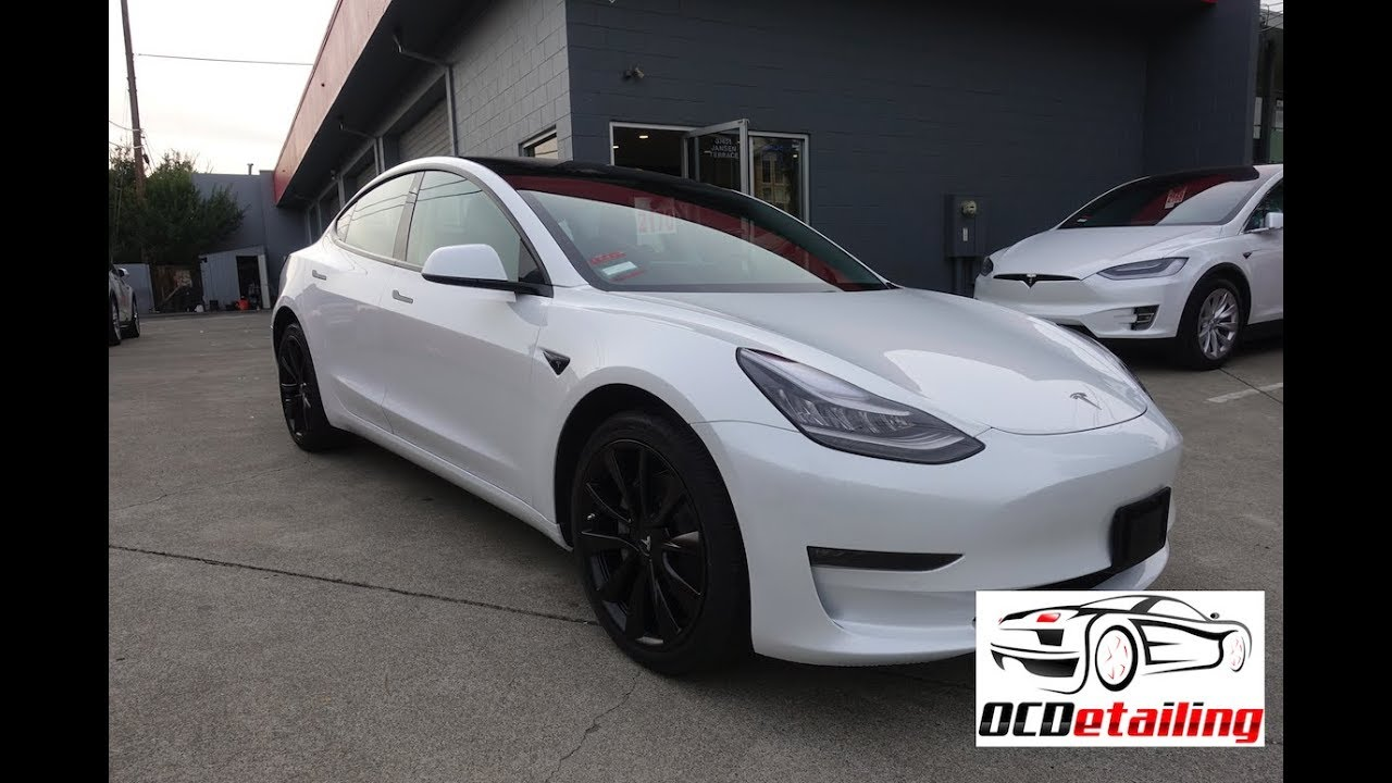 Tesla Model 3 Chrome Delete Satin Black Ocdetailing
