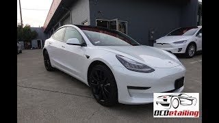 Tesla Model 3 - Chrome Delete - Satin Black - OCDetailing®