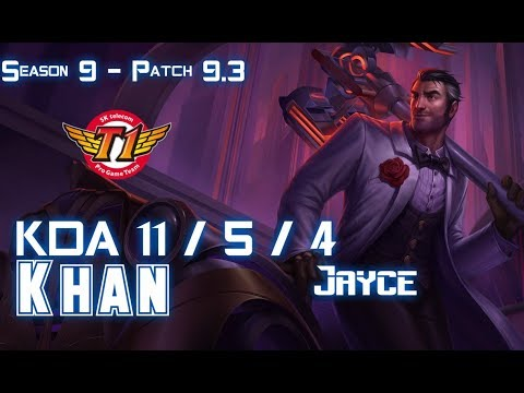 SKT Khan JAYCE vs YORICK Top - Patch 9.3 KR Ranked