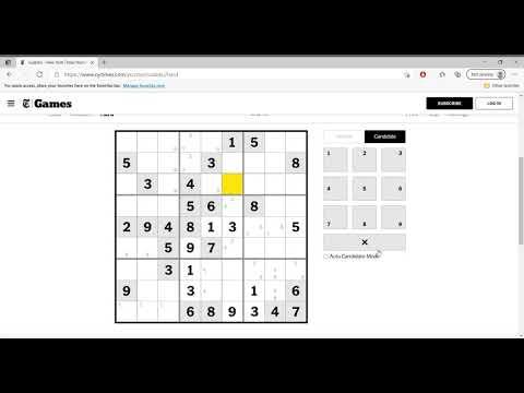 Hard Sudoku New York Times April 9