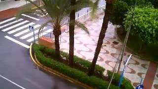 Garrucha bajo la lluvia