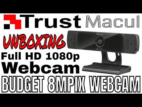 TRUST MACUL FULL HD 1080P WEBCAM (8Mpix) UNBOXING