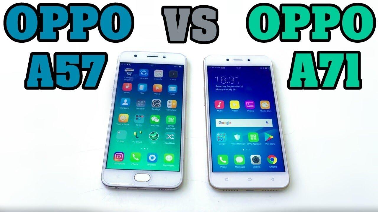 Oppo A71 Vs Oppo A57 Speed Test Youtube