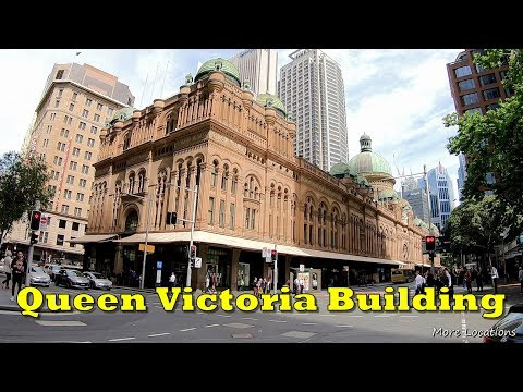 Queen Victoria Building Shopping Centre - Swarovski Christmas Tree - Walking Tour - Sydney Australia