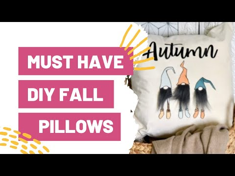 DIY Must Have DIY Fall Pillows You Can Make With Your Cricut TODAY!