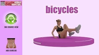 Bicycles steps. Abs exercise