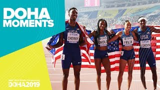 World Record in the Mixed 4x400m | World Athletics Championships 2019 | Doha Moments