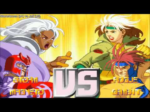 [HD] - Fightcade - Xmen Vs Street Fighter - StormQueen(USA) Vs Jeff(USA)